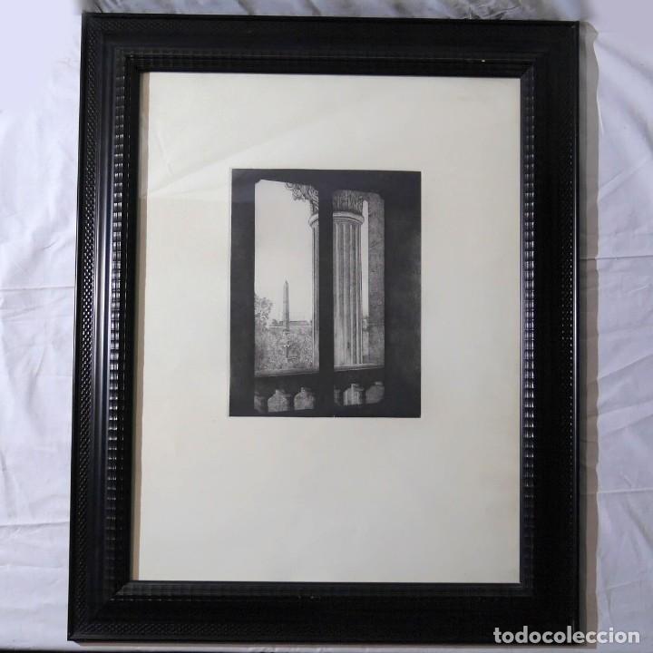 ESPECTACULAR GRABADO ENMARCADO (Arte - Grabados - Contemporáneos siglo XX)