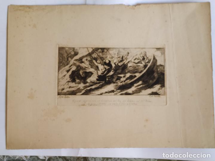 Arte: Grabado José Castillo de obra de Lucas Jordán La Tempestad de Cristo Palacio Buen Retiro - Foto 2 - 279369923