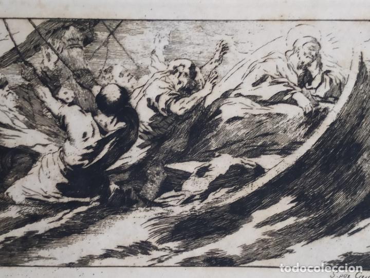 Arte: Grabado José Castillo de obra de Lucas Jordán La Tempestad de Cristo Palacio Buen Retiro - Foto 3 - 279369923