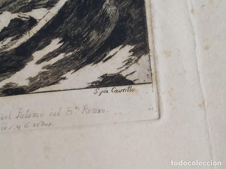 Arte: Grabado José Castillo de obra de Lucas Jordán La Tempestad de Cristo Palacio Buen Retiro - Foto 6 - 279369923