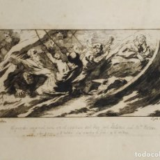 Arte: GRABADO JOSÉ CASTILLO DE OBRA DE LUCAS JORDÁN LA TEMPESTAD DE CRISTO PALACIO BUEN RETIRO. Lote 279369923