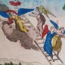 Arte: 6 GRABADOS COLOREADOS ANTIGUO TESTAMENTO JOSÉ JACOB SE. XVLLL. Lote 279517028