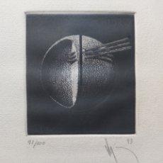 "Arte: ""SIMBIOSIS"" ARTE CONCEPTUAL GRABADO 1993. Lote 279577893"