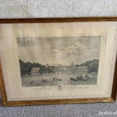 Arte: GRABADO PALACIO REAL ARANJUEZ POR D.MANUEL SALVADOR Y CARMONA 1773 82X112CMS. Lote 279581498