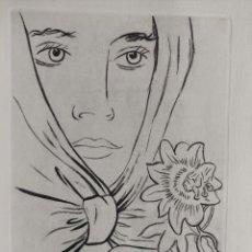 Arte: GREGORIO PRIETO - NOSTALGIA - AGUATINTA - FIRMADO - LIMITADO - JUAN RAMIREZ DE LUCAS - FIRMA. Lote 281768628