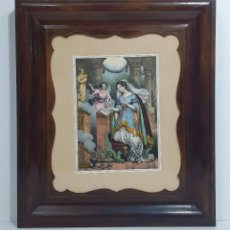 Arte: GRABADO - CON MARCO ISABELINO - MADERA DE CAOBA - S. XIX. Lote 283073293