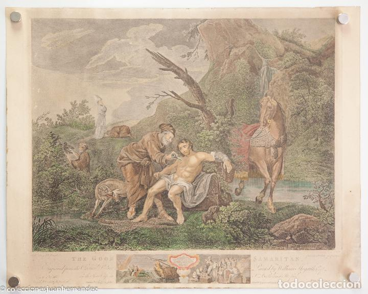 Arte: The Good Samaritan - Simon Ravenet - J M Delatre - Boydell 1772 - Foto 2 - 284012263