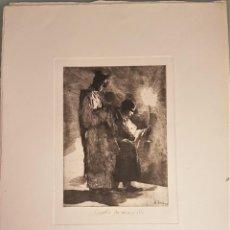"""Arte: MARIANO GARCÍA Y MÁS (VALENCIA ,1858-1911) """"CAPELLA DE MISA Y OLLA"""". HUELLA 29 X 21 (53 X 39). Lote 284468008"""