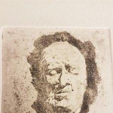 """Arte: MARIANO GARCÍA Y MÁS (VALENCIA ,1858-1911) """"ESTUDIO DE CABEZA"""". GRABADO AGUAF 7¨5 X 6´5 (26´5 X 19). Lote 284546118"""
