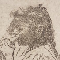 """Arte: MARIANO GARCÍA Y MAS (VALENCIA 1858-1911)""""ESTUDIO DE NIÑA"""" 10 X 8 (26'5 X 19'5). Lote 284546288"""