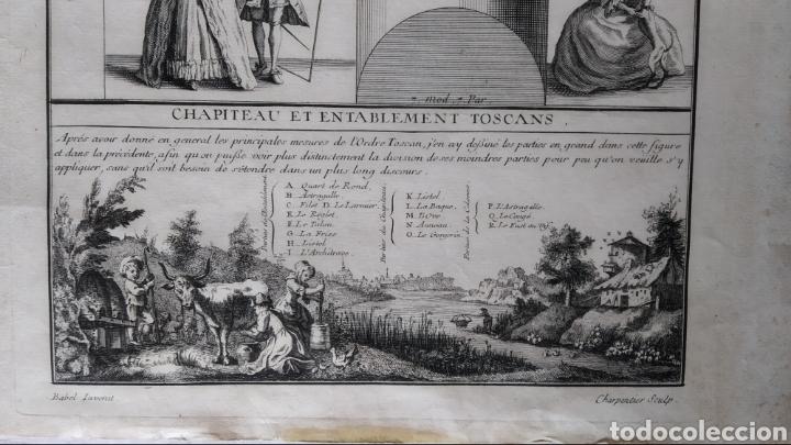 Arte: GRABADO TRATADO DE ARQUITECTURA DE VIGNOLA. ED. DE 1767 - Foto 2 - 286184548