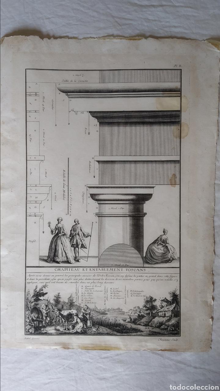 Arte: GRABADO TRATADO DE ARQUITECTURA DE VIGNOLA. ED. DE 1767 - Foto 3 - 286184548