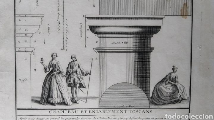 GRABADO TRATADO DE ARQUITECTURA DE VIGNOLA. ED. DE 1767 (Arte - Grabados - Antiguos hasta el siglo XVIII)