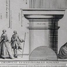 Arte: GRABADO TRATADO DE ARQUITECTURA DE VIGNOLA. ED. DE 1767. Lote 286184548