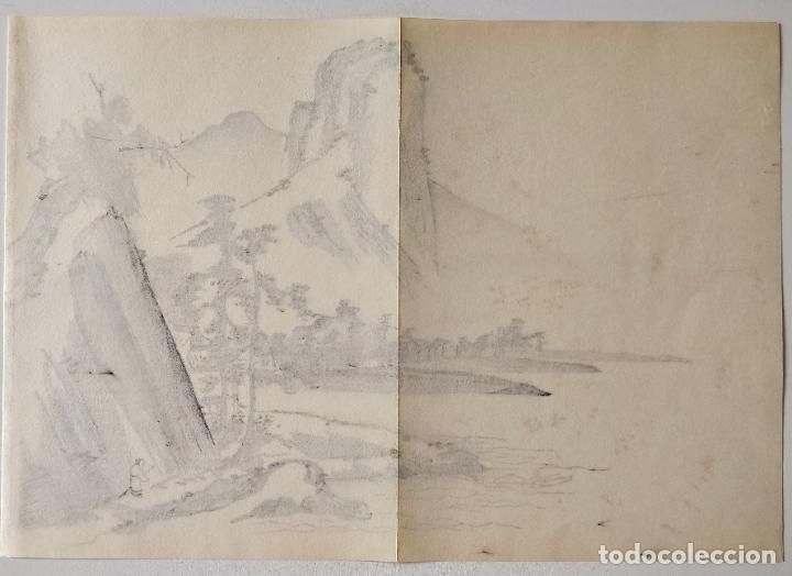 Arte: Interesante grabado japonés original siglo XIX, sumi-e, ukiyoe, gran calidad, sutil pincelada - Foto 2 - 286711688