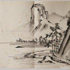 Arte: INTERESANTE GRABADO JAPONÉS ORIGINAL SIGLO XIX, SUMI-E, UKIYOE, GRAN CALIDAD, SUTIL PINCELADA. Lote 286711688