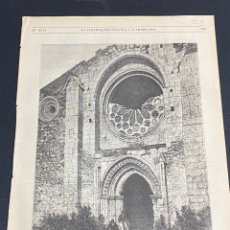 Arte: XILOGRAFÍA SEGOVIA, ERMITA DE LA VIRGEN DE LA SIERRA 1872. 37X25,50 CM. BUEN ESTADO.. Lote 286848083