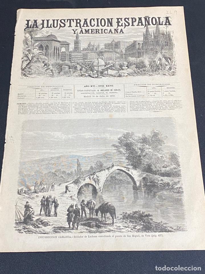 Arte: XILOGRAFÍA CARLISMO, SOLDADOS DE LUCHANA EN VERA, PUENTE SAN MIGUEL 1872. 18X26 CM.. BUEN ESTADO. - Foto 2 - 286848658