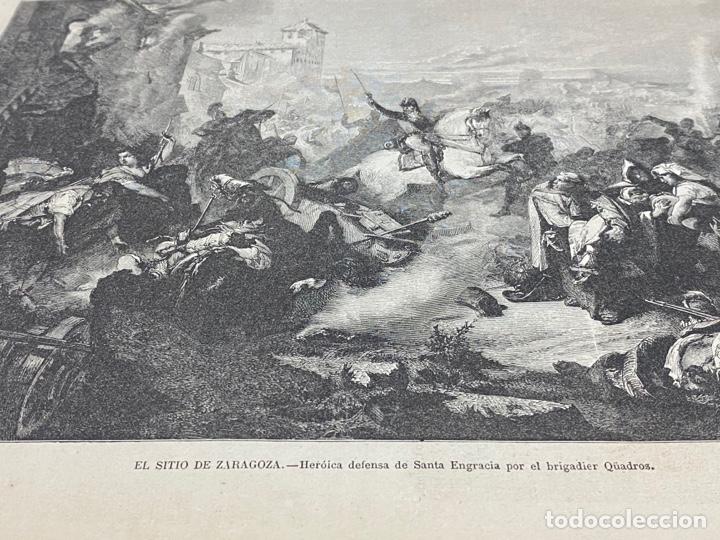 Arte: XILOGRAFÍA ZARAGOZA, SITIOS ZARAGOZA, BUEN ESTADO. 37X25,50 CM. 1872 - Foto 2 - 286854228