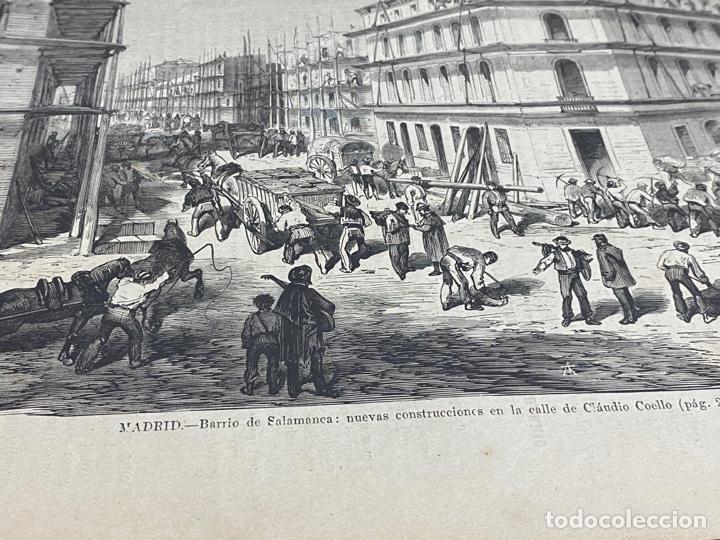 Arte: XILOGRAFÍA 1872. MADRID. BARRIO SALAMANCA, C. CLAUDIO COELLO BUEN ESTADO. 37X25,50 CM. - Foto 2 - 286856533