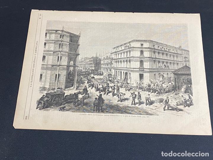 XILOGRAFÍA 1872. MADRID. BARRIO SALAMANCA, C. CLAUDIO COELLO BUEN ESTADO. 37X25,50 CM. (Arte - Grabados - Modernos siglo XIX)