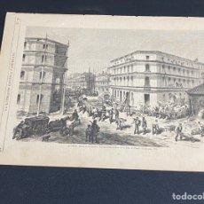 Arte: XILOGRAFÍA 1872. MADRID. BARRIO SALAMANCA, C. CLAUDIO COELLO BUEN ESTADO. 37X25,50 CM.. Lote 286856533