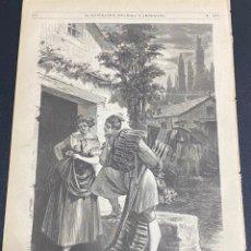 Arte: XILOGRAFÍA 1872. VALENCIA TIPOS POPULARES DE LA HUERTA. BUEN ESTADO. 37X25,50 CM.. Lote 286856908