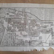 Arte: LEÓN. ESPECTACULAR GRABADO. PLANO DE LA CIUDAD DE LEÓN. FINALES SIGLO XVIII. Lote 287098013