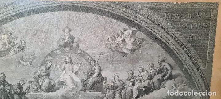 Arte: DISPUTA DEL SACRAMENTO. JOANNES VOLPATO. GRABADO SOBRE PAPEL. ITALIA. SIGLO XVIII - Foto 3 - 287239583