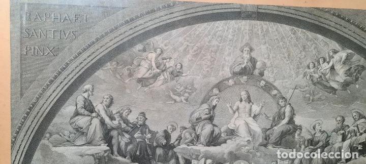 Arte: DISPUTA DEL SACRAMENTO. JOANNES VOLPATO. GRABADO SOBRE PAPEL. ITALIA. SIGLO XVIII - Foto 5 - 287239583
