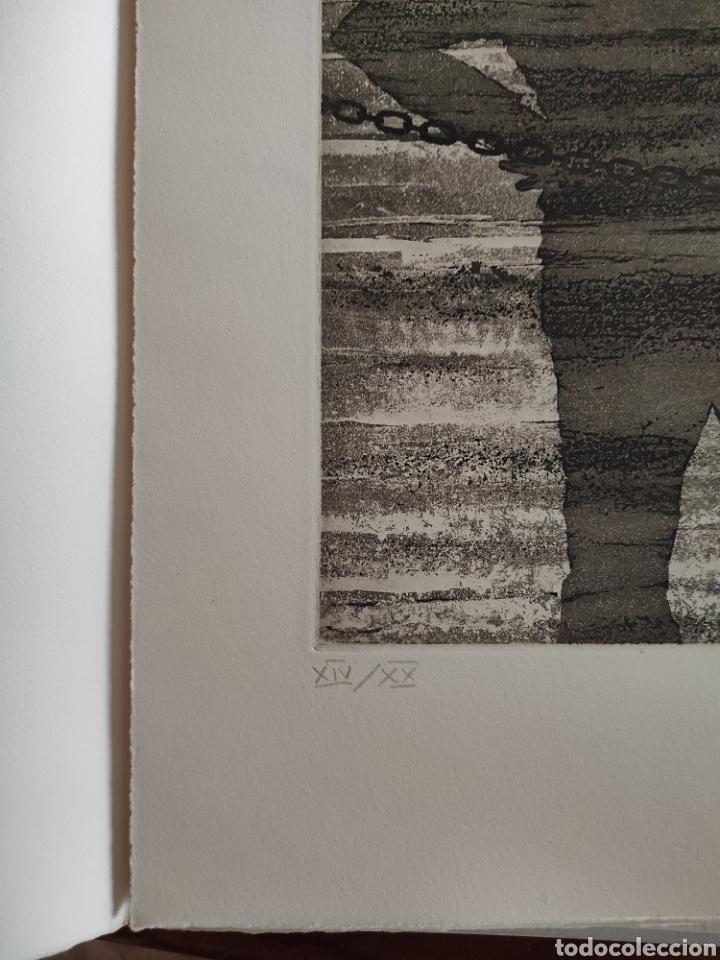 Arte: JOSE LUIS VERDES. GRABADO AGUAFUERTE FIRMADO Y NUMERADO A LAPIZ. XIV/XX. EL MITO DE LA CAVERNA.1977. - Foto 2 - 287338943