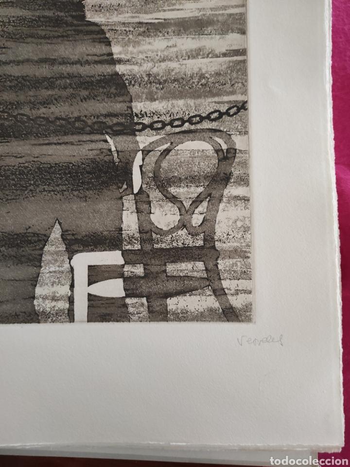 Arte: JOSE LUIS VERDES. GRABADO AGUAFUERTE FIRMADO Y NUMERADO A LAPIZ. XIV/XX. EL MITO DE LA CAVERNA.1977. - Foto 3 - 287338943