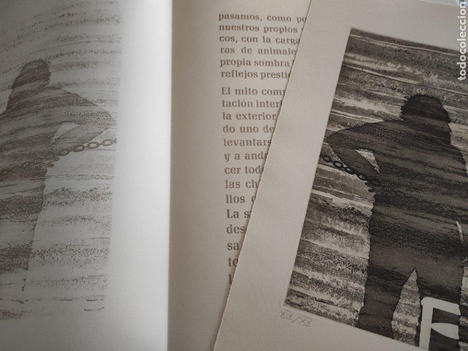 Arte: JOSE LUIS VERDES. GRABADO AGUAFUERTE FIRMADO Y NUMERADO A LAPIZ. XIV/XX. EL MITO DE LA CAVERNA.1977. - Foto 4 - 287338943