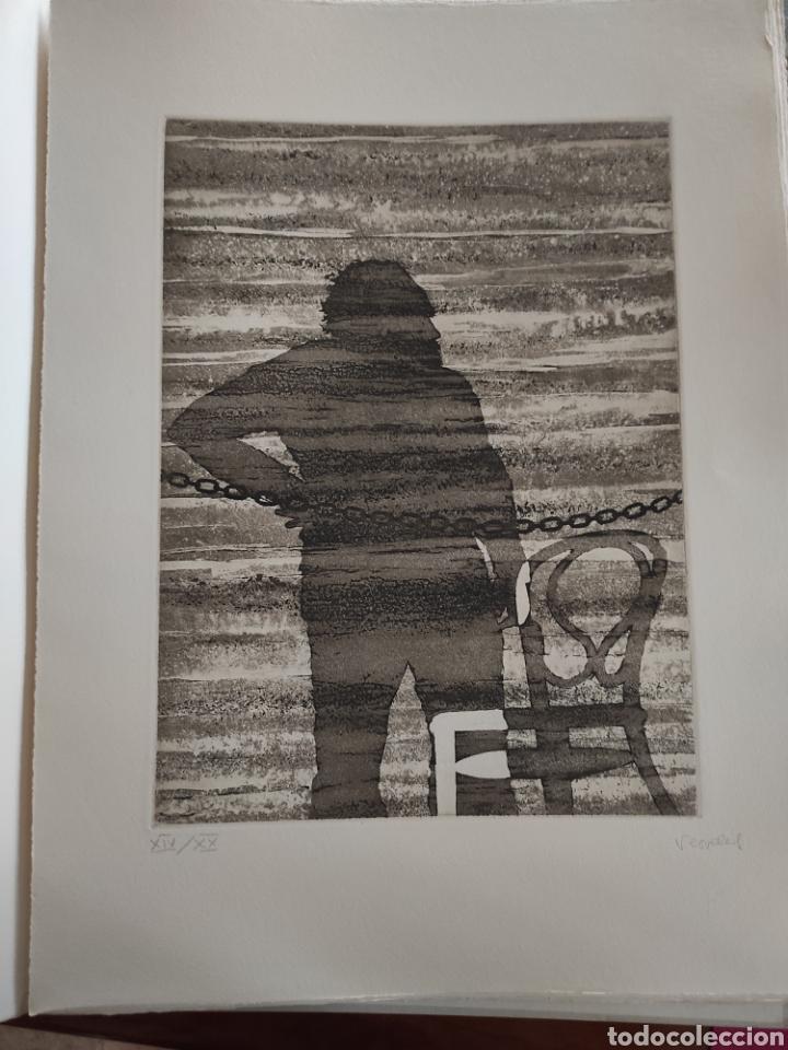 JOSE LUIS VERDES. GRABADO AGUAFUERTE FIRMADO Y NUMERADO A LAPIZ. XIV/XX. EL MITO DE LA CAVERNA.1977. (Arte - Grabados - Contemporáneos siglo XX)