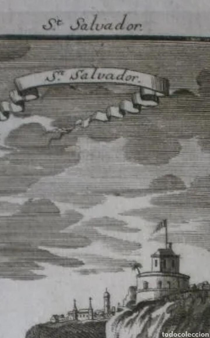 Arte: Grabado de SAN SALVADOR. Siglo XVIII. LEER BIEN LA DESCRIPCIÓN ANTES DE PUJAR O COMPRAR. - Foto 2 - 287470213