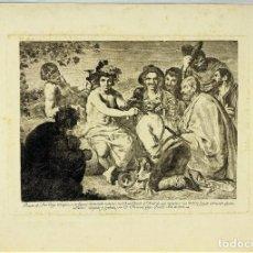 Arte: GOYA LUCIENTES. EL TRIUNFO DE BACO O LOS BORRACHOS. TERCERA EDICIÓN. CALCOGRAFÍA NACIONAL,1868. Lote 287956048