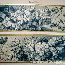 Arte: PRECIOSO GRABADO ART NOUVEAU CIRCA 1900 ANTIQUE UNIQUE. Lote 288539478