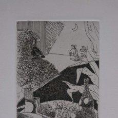 Arte: FRANCESC ARTIGAU 186/200 MESA CON COMIDA Y PERSONAJE FIRMADO Y FECHADO 1976. Lote 288552843