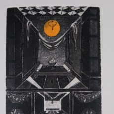 Arte: GRABADO 161/200 INTERIOR ESTANCIA FIRMADO A LÁPIZ AMÈLIA HIENA. Lote 288552988