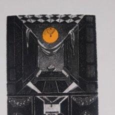 Arte: GRABADO 175/200 INTERIOR ESTANCIA FIRMADO A LÁPIZ AMÈLIA HIENA. Lote 288553613