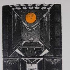 Arte: GRABADO 171/200 INTERIOR ESTANCIA FIRMADO A LÁPIZ AMÈLIA HIENA. Lote 288553718