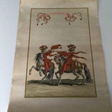 Arte: TROMPETTES ROMAINS, GRABADO DE FRANCOIS CHAUVEAU, 1613 - 1676. PAPEL ARCHES. MEDIDAS 56 CM X 37 CM. Lote 288563688