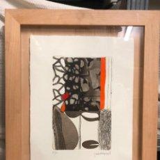 Arte: JOSEP GUINOVART, GRABADO, TIRAJE 33/60, FIRMADO A LÁPIZ, CON MARCO. 39X28CM. Lote 288650103