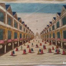 Arte: VUE PERSPECTIVE ILLUMINATIONS PONT NOTRE DAME EN RÉJOUISSANCE RÉTABLISSEMENT SANTÉ LOUIS XIV,S.XVIII. Lote 288708818