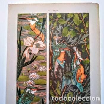 Arte: Precioso Grabado Art Nouveau circa 1900 Antique Unique - Foto 2 - 288861003