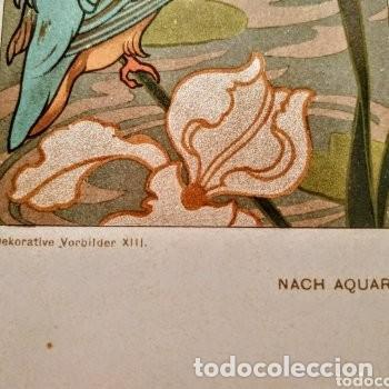 Arte: Precioso Grabado Art Nouveau circa 1900 Antique Unique - Foto 3 - 288861003