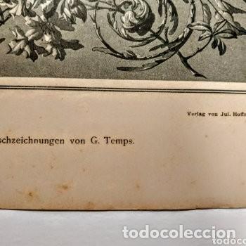 Arte: Precioso Grabado Art Nouveau circa 1900 Antique Unique - Foto 2 - 288861018