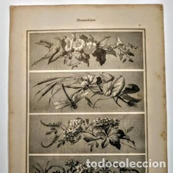 Arte: Precioso Grabado Art Nouveau circa 1900 Antique Unique - Foto 3 - 288861018