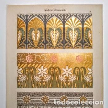 Arte: Precioso Grabado Art Nouveau circa 1900 Antique Unique - Foto 2 - 288861033