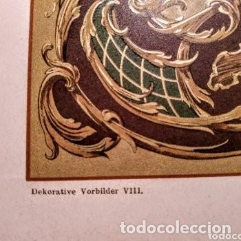 Arte: Precioso Grabado Art Nouveau circa 1900 Antique Unique - Foto 3 - 288861053